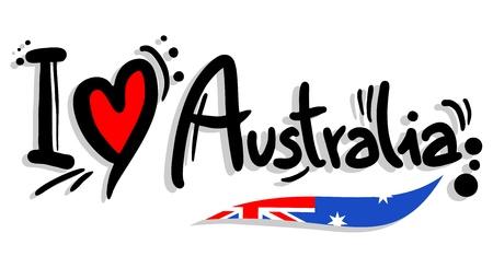 나는 호주를 사랑합니다 일러스트