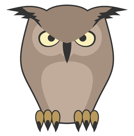 expressive style: Owl vector draw