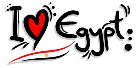 I love Egypt Illustration
