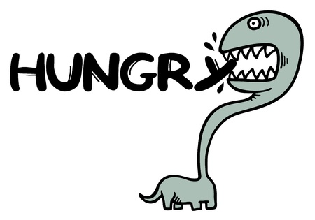 bulimia: Funny hungry message