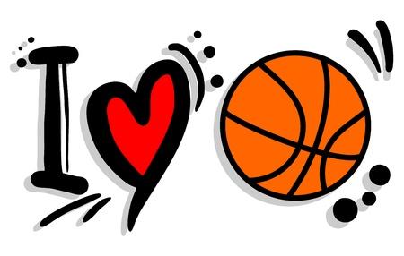 I love basket Vector