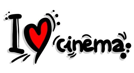 cinematographer: I love cinema Illustration