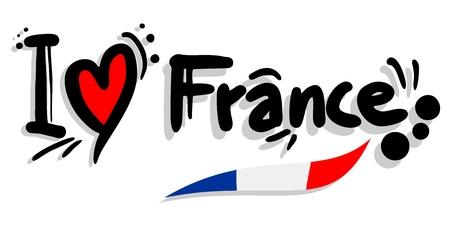 I love France Stok Fotoğraf - 19552019
