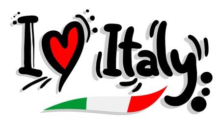 I love Italy Vector