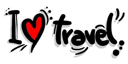 나는 여행을 사랑합니다 일러스트