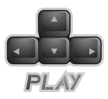 Key play Stock Vector - 19552066