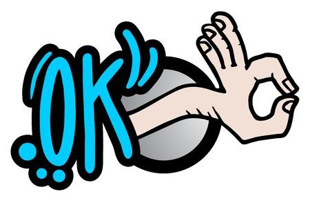 affirmation: All right or OK sign illustration