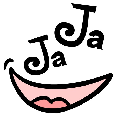 Joke smile face Vector