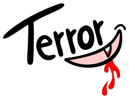terror: Terror message illustration