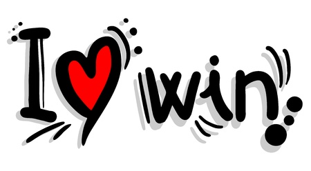 surpass: I love win Illustration