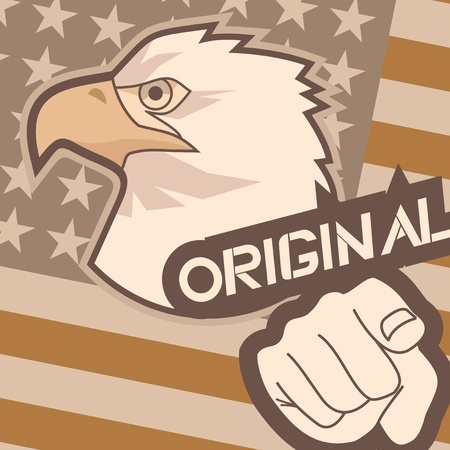 Original patriot illustration Vector