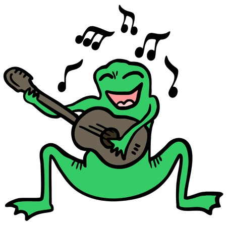 music theory: Happy frog Illustration