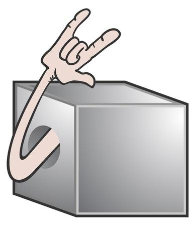 subversive: Hard steel box Illustration