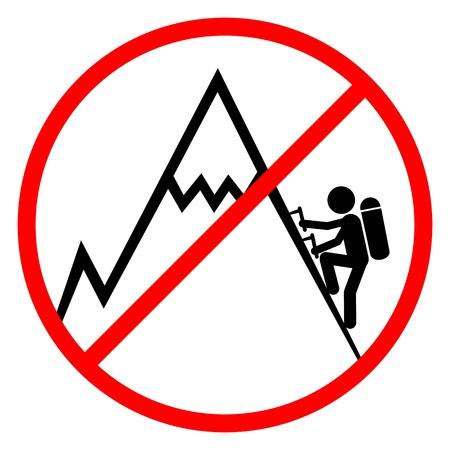 No climb Vector