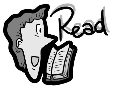 interpret: Read book Illustration