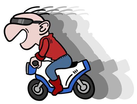 Speed motorcycle Vector Illustration