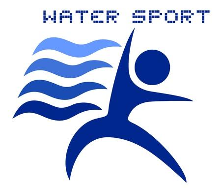 Water sport Stock Illustratie