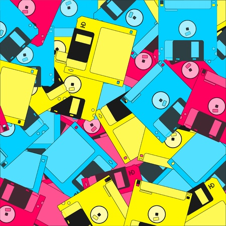 Colorful diskettes Stock Vector - 19993551