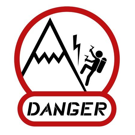 Danger mountain symbol