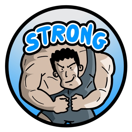 Strong muscle man Vector