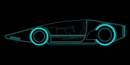 modernity: Creative future vehicle Illustration