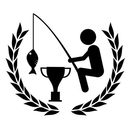 Winner fishing Stock Vector - 19858446