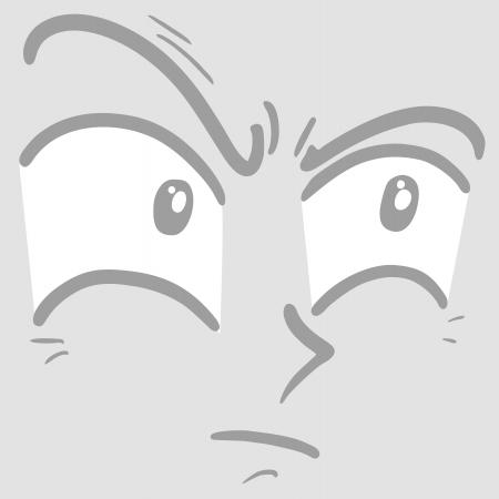 wrinkled face: Cartoon face comic Illustration
