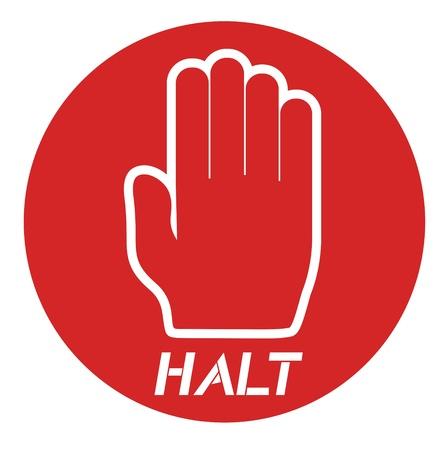 Halt icon message Vector
