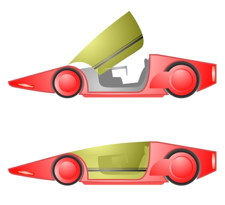 Red future car Stock Vector - 19858475