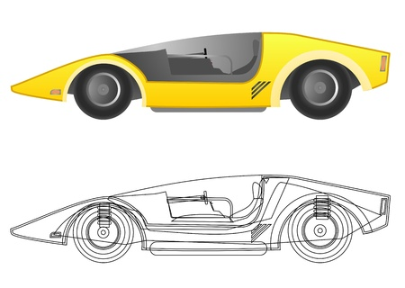 Science car Stock Vector - 19858466