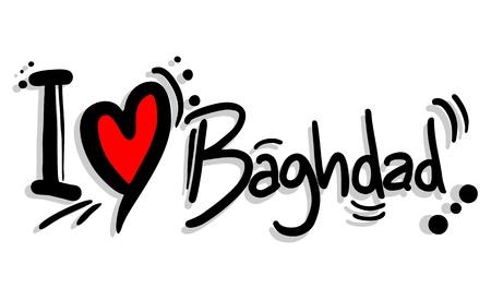 caliphate: I love Baghdad Illustration