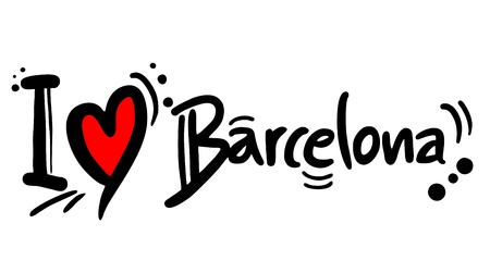 estimate: I love Barcelona Illustration