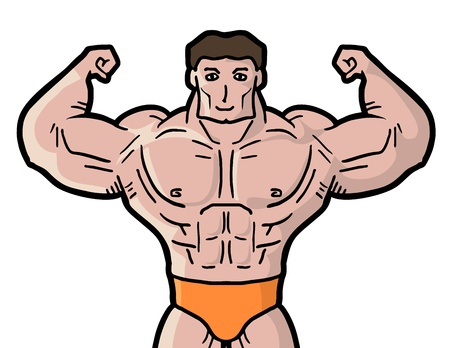 expesive: Muscle man draw Illustration