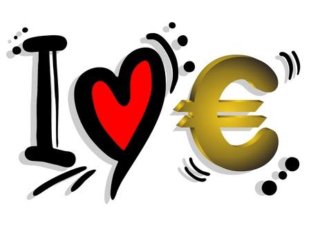 booming: I love euro Illustration