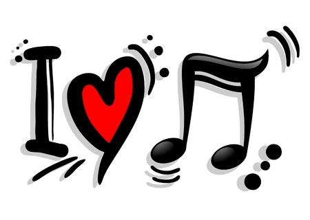 polyphony: I love music symbol