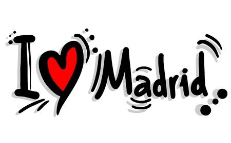 Me encanta Madrid Ilustración de vector