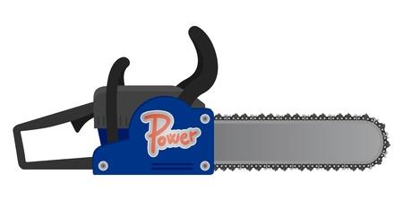 Chainsaw design Stock Vector - 19993637