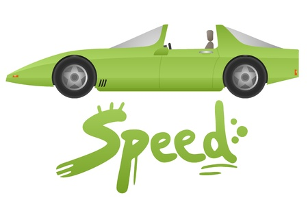 Speed car Stock Vector - 19993667