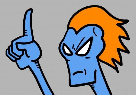 Blue monster finger Stock Vector - 20324603