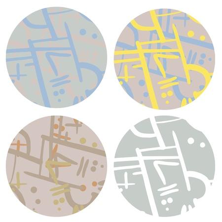 original single: Four art paint buttons