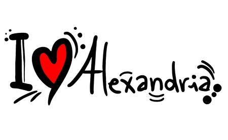 I love Alexandria Stock Vector - 20325142