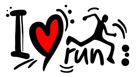Love run Vector