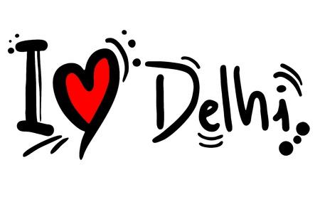 popular belief: Love Delhi Illustration