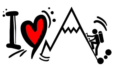 Love mountain sports Stock Vector - 20185867