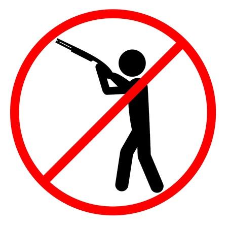 No hunt sign  イラスト・ベクター素材