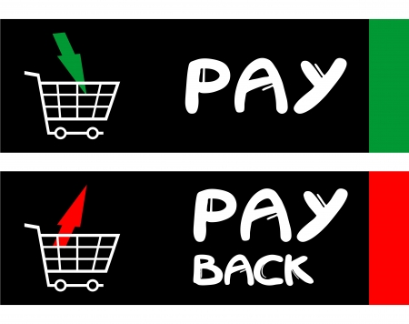 haggling: Pay and pay back messages Illustration