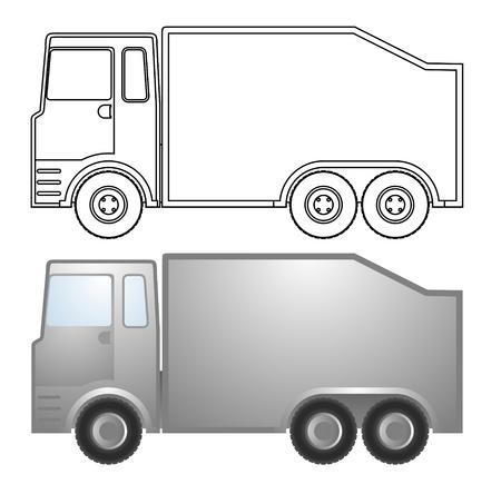 circulate: Truck vector design