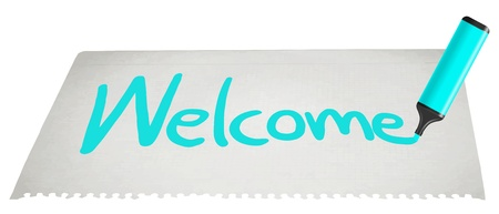 welcomed: Welcome paper message