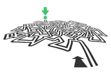 bustle: Creative design of a cross maze