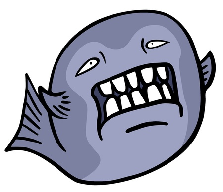 Creative design of evil fish Vector